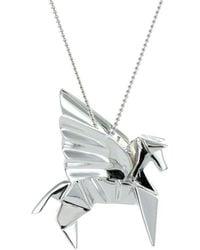 Origami Jewellery Sterling Silver Pegaze Necklace 9UvU0Vl4I