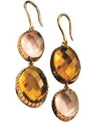 Xanthe Marina - 18kt Yellow Gold Reverse Earrings With Mixed Quartz - Lyst