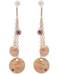 Mishanto London - Veneto Trilogy Earrings With Garnet - Lyst
