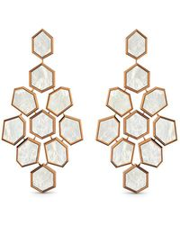 MARCELLO RICCIO - Rose Gold & Mother Of Pearl Earrings - Lyst