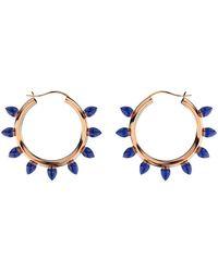 MARCELLO RICCIO - Lapis Lazuli Hoop Earrings - Lyst