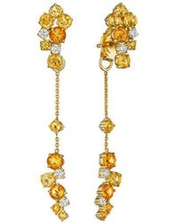Madstone Design - Melting Ice Front And Back Citrine Earrings - Lyst