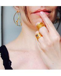 Elena Jewelry Concepts Gold Wave R - Metallic