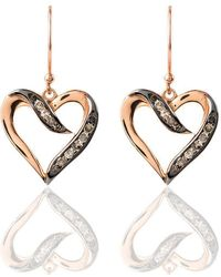Latelita London Diamond Open Heart Drop Earring aj5jXxnWh6