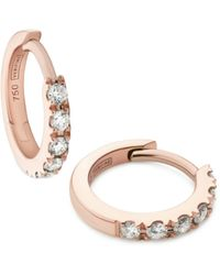 Verifine London 18kt Rose Gold & Diamond Huggie Earrings - Metallic