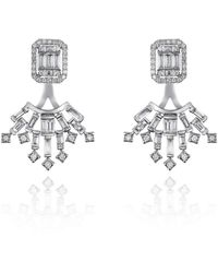 Ortaea Fine Jewellery 18kt White Gold Bridal Diamond Earrings Ll