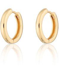 Scream Pretty Gold Plated Large Huggie Hoop Earrings - Metallic