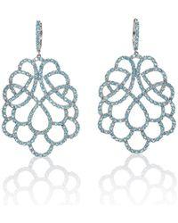 Mara Hotung 18kt White Gold Renaissance Earrings With Swiss Topaz - Blue