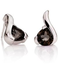 MANJA Jewellery Sensual Smoky Quartz Earrings - Multicolor