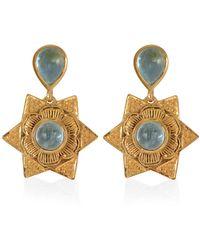 Emma Chapman Jewels Lyra Aquamarine Earrings - Multicolour