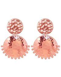 Murkani Jewellery - Rose Gold Stud Earring - Lyst