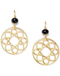 Syna - 18kt Mogul Earrings With Black Spinel - Lyst