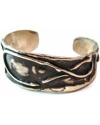 Private Opening - Small Byzantine Oxidized Silver Bracelet - Lyst