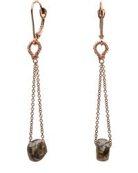 Nadean Designs - Raw Faceted Diamond Rose Gold Gypsophilia Earring - Lyst