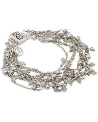 Mishanto London Sterling Silver Labradorite & Pearl Rio Bracelet - Pink