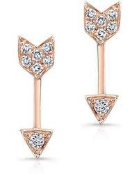 Anne Sisteron - Artemis Earrings Rose Gold - Lyst