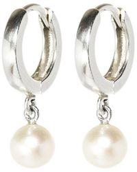 XISSJEWELLERY - Silver & Pearl Drop Earrings - Lyst