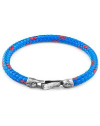 Anchor & Crew - Blue Paignton Silver And Rope Bracelet - Lyst