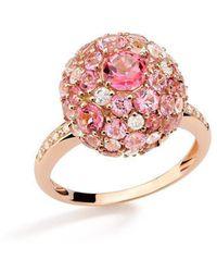 Brumani Baobab Bubbles Ring In Rose Gold - Pink