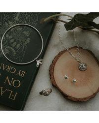 Lucy Flint Jewellery Bee Bangle Sterling Silver - Metallic