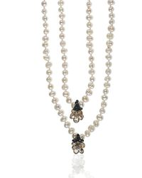 Earth's Tears by Elena Kontorousi Freshwater Pearls & Gold Plated Elements Necklace - Metallic