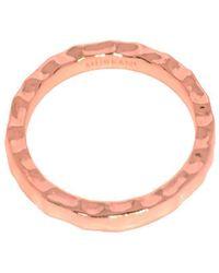 Murkani Jewellery Rose Gold Free Layering Ring - Pink