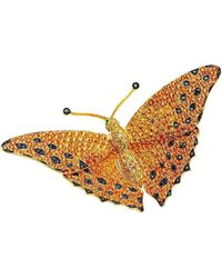 Pinomanna - Gold & Diamond Natural Chic Butterfly Necklace | - Lyst