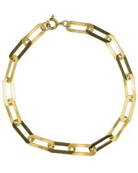 Alison Fern Jewellery George Long Link Bracelet - Metallic