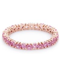 VOA Fine Jewellery | Signature Heart Pink Eternity Ring | Lyst