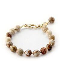 Elisa Ilana Jewelry - Yellow Gold & Agate Lollies Bracelet   - Lyst