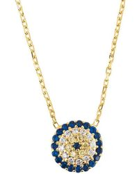 LÁTELITA London - Yellow Gold Plated Silver Evil Eye Necklace - Lyst