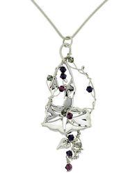 Rachel Helen Designs - Sterling Silver Morning Glory Pendant - Lyst