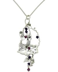 Rachel Helen Designs - Sterling Silver Morning Glory Pendant - Lyst