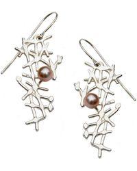 Katerina Damilos - Free Spirit Earrings Blush Pearls - Lyst