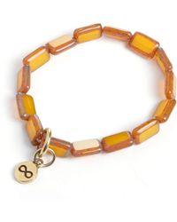 Eva Michele - Rustic White Infinity Bracelet - Lyst