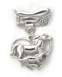 Donna Pizarro Designs - Sterling Silver Mare, Colt And Saddle Brooch - Lyst