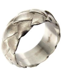 Charlotte Cornelius - Silver Succulent Leaf Band Ring - Lyst