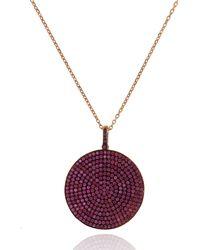 Cosanuova Long Multicolor Round Cz Necklace - Metallic