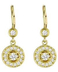 Penny Preville Diamond Pavé Round Gold Bezel Earrings BMERI6
