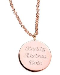 Libelula Jewellery 18kt Yellow Mother Of Necklace - Pink