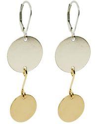 89053707d3e Alison Fern Jewellery - Yellow Gold Filled Sterling Silver Luna Earrings -  Lyst