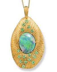 Katherine LeGrand Custom Goldsmith - Gold, Opal & Garnet Sunrise Necklace | Katherine Legrand - Lyst
