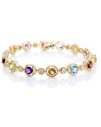Isaac Westman - Multi-coloured Gemstone Bracelet - Lyst