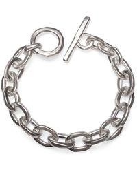 Elindesign Jewellery Sterling Silver Fatcat Anchor Bracelet - Metallic
