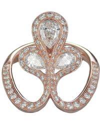 Baenteli - Rose Gold & Diamond Royale Flower Ring | - Lyst