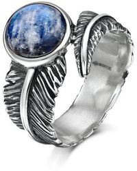 Becky Rowe - Sterling Silver & Moonstone Feather Ring | - Lyst