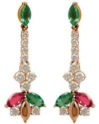 Joana Salazar - Delicate Sparkling Earrings - Lyst