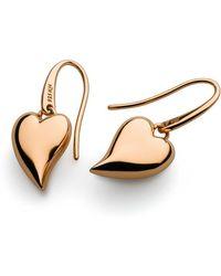 Kit Heath - Desire Forever Lust Heart Rose Gold Drop Earrings - Lyst