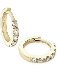 Verifine London 18kt Yellow Gold & Diamond Huggie Earrings - Metallic