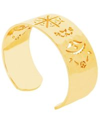 Murkani Jewellery Gold Beleza Cuff Bangle - Metallic